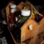 Garlic and Shots- Barb Wire Condiment Caddy