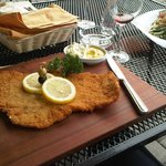 Giant cornflake - actually the Bicycle Saddle Schnitzel
