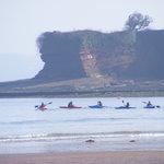 Kayakers off Paignton Beach