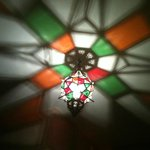 Great ceiling light! The Moroccan Room