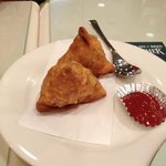 samosa (with red sauce)