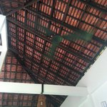 The roof at at dining place