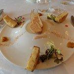 Foie-gras as an appetizer, so good