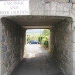 Entrance to rear car park