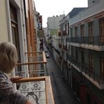 Very quaint streets in Old San Juan. West view from balcony.