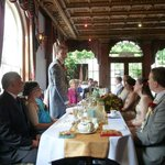 The beautiful decor (and the groom's speech)