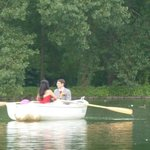Newlyweds on their boat