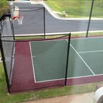 Basketball court outside 216/316/416 rooms