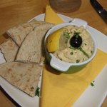 My starter of Hummus with warm Pita bread