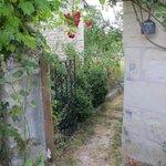 Entrance to garden.