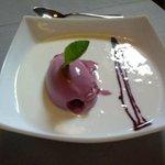 Crema de yogurth con helado
