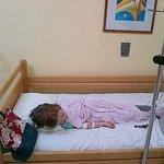 My daughter in Albena Hospital