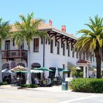 Street side dining at what used to be the old Boca Grande railway station