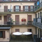 View of the interior courtyard from our balcony