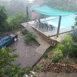 vista desde nuestro cuarto en una lluviosa pero romantica mañana