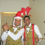"""Luis"" & Pastor, butlers always ready to serve..."