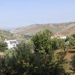 vista panorámica desde la terraza de la habitación, al fondo está Granada