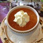 soupe de melon au basilic
