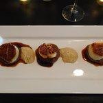 Scallop and Chorizo Appetizer- it was sogood!