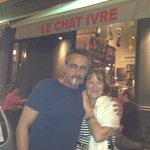 With one of the Owners, the French Star at le Chat Ivre