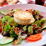 Great goat cheese salad