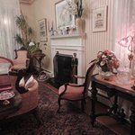The living room-- exquisitely decorated!