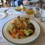 Maispoularde: reichlich und sehr lecker für 14,50 Euro
