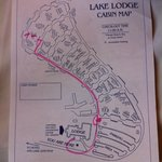 Map of Lake Lodge cabins