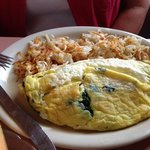 feta cheese/spinach omelette