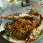 Lobster with spaghetti  and shrimps, yammi!