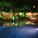 Bar & Pool at Night