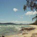 Beach in front of resort