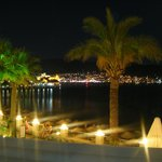 Night view of Bodrum from restaurant