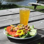 Our salad and SporTea by Fish Creek in our Wilson location