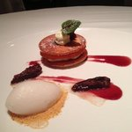 Fig Napoleon with fig icecream - chef's treat!
