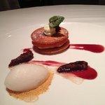 Fig Napoleon with fig icecream - chef's treat!
