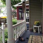 private porch off Victoria suite