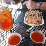 Tea, Bar B Que and Red Slaw