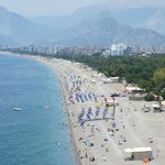On opposite side of road to museum is a dramatic cliff top view of Antalya tp the west