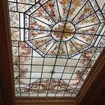 ceiling glass in the lobby area