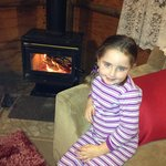We loved the cosy fire