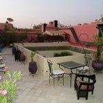 Terrasse sur le toit du Riad
