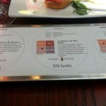 """Smartest restaurant """"gimmick"""", coaster, souvenier, tasting notes in one"""