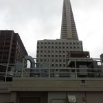 Transamerica Pyramid from the balcony outside