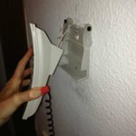 Telephone hanging off