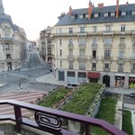 View from room on the 5th floor overlooking Place Grangier in Dijon