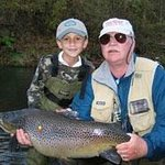 FFF Instructor John Berry with Monster Rainbow Trout