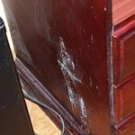Dresser, looks like mold.