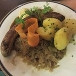 Thuringian style fried sausage