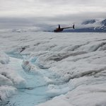 Helicopter to the top of Knik Glacier